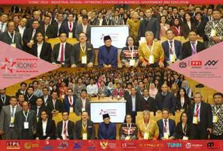 Foto bersama seluruh peserta ICONIC 2016 bersama Presiden RI ke-3, Prof. Dr. Ing. B.J. Habibie, selaku keynote speaker di hari pertama, 29 Oktober 2016