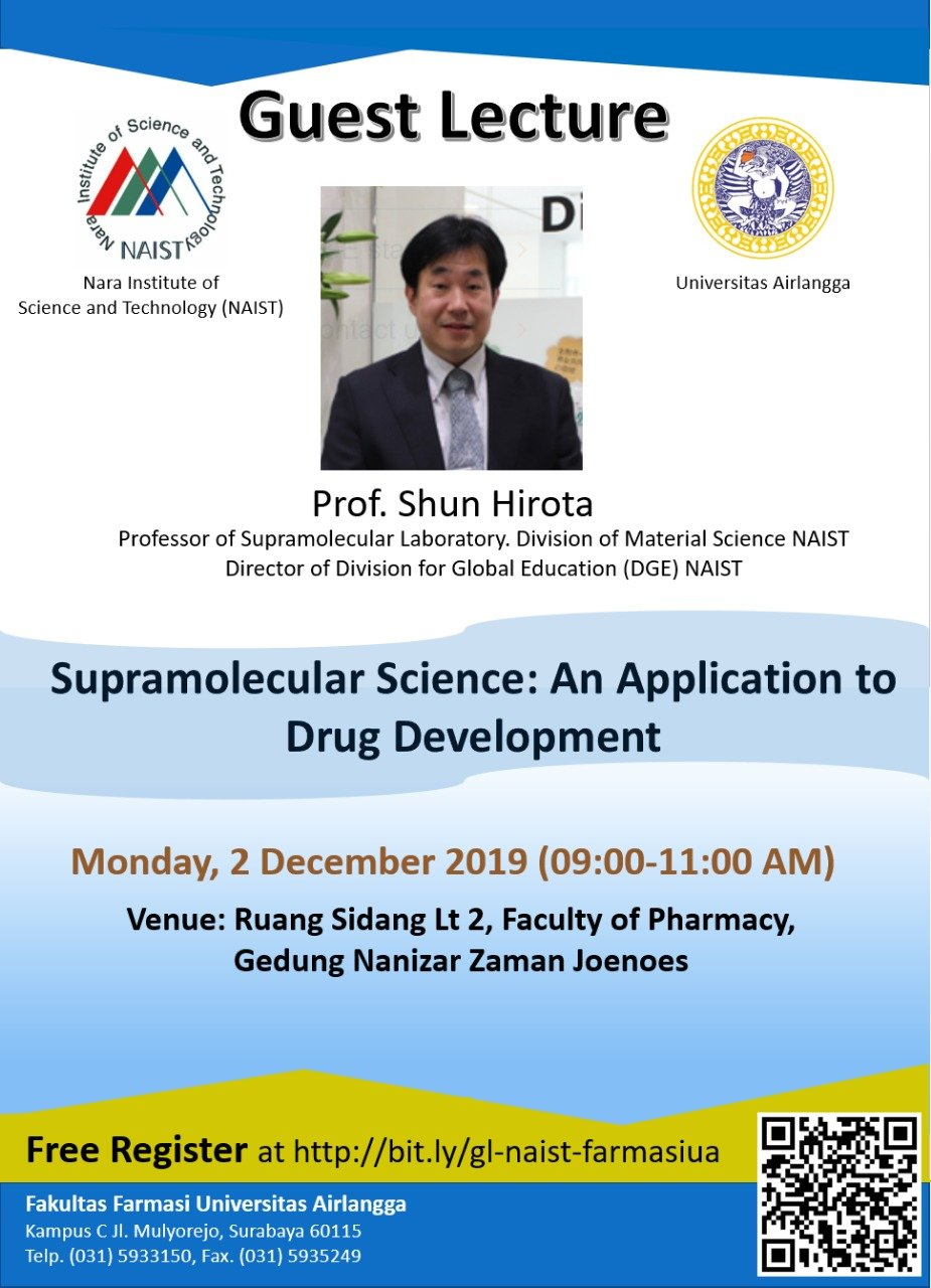 Guest Lecture Supramolecular Science: An Application to Drug Development