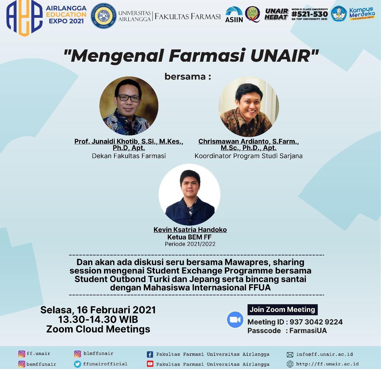 Mengenal Farmasi UNAIR dalam rangka Airlangga Education Expo